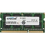 Crucial Memory: Additional 10% Off: 16GB (2x8GB) Crucial DDR3L 1600 Laptop Memory $67.49 + Free Shipping