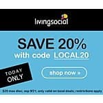 LivingSocial: 20% Off Any Local Deals (Valid 9/21 Only)