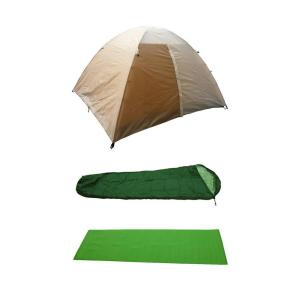 5-Piece Tent Combo Kit (SG10011): Polyester 2-Person Tent, 2-piece Polyester Sleeping Bags, 2-piece Flame Retardant Ground Mats $24.50 + Free In-Store Pickup