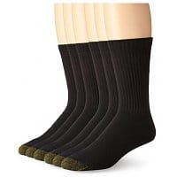 Amazon Deal: 6-Pairs of Men's Gold Toe Athletic Socks (Black or White): Crew or Quarter