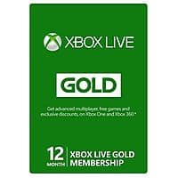 eBay Deal: 12-Month Microsoft Xbox Live Gold Membership Card