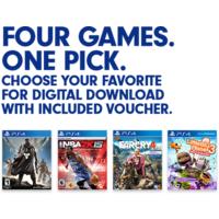 Pick 1 of 4 Games: Far Cry 4, Destiny, NBA 2K15, or Little Big Planet 3 (PS4 Digital Download Voucher) $29.49