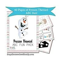 Educents Deal: Frozen-Themed ABC + Math Fun Pack (PDF Digital Download)