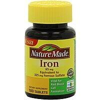 Amazon Deal: Nature Made Supplements: 180-Count 65mg Iron Vitamin