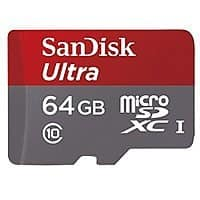 Amazon Deal: SanDisk Ultra Class 10 microSDXC/SDHC w/ Adapter: 64GB $25, 16GB