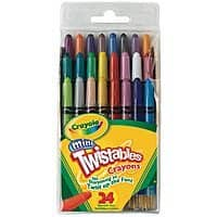 Staples Deal: 24-Pack Crayola Mini Twistables Crayons (various colors) $3 + Free Ship to Store at Staples