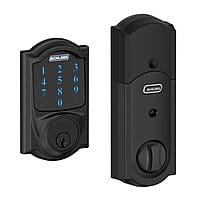 Amazon Deal: Schlage Connect Touchscreen Deadbolts w/ Built-In Alarm (various styles)