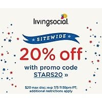 LivingSocial Deal: LivingSocial July 4th Savings: Additional 20% Off Sitewide (Valid thru 7/5)