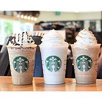 Starbucks Stores Deal: Starbucks Stores: Select 16oz. Starbucks Grande Frappuccino Beverages