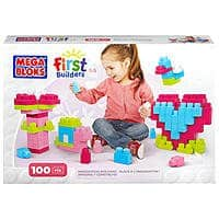 Mega Bloks First Builders Set: 100-Piece Imagination Building (Pink) or Builders Box Set $  10 Each + Free In-Store Pickup