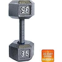 Walmart Deal: CAP Barbell Cast Iron Hex Dumbbell: 30lbs $20, 25lbs $16.65, 20lbs