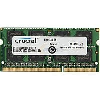 Newegg Deal: Crucial Memory: Additional 10% Off: 16GB (2x8GB) Crucial DDR3L 1600 Laptop Memory $67.49 + Free Shipping