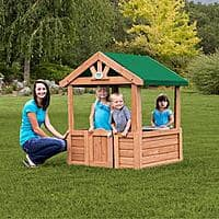 Walmart Deal: Backyard Discovery Cozy Wooden Playhouse