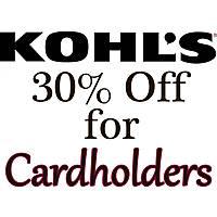 Kohl's Cardholders Coupon for Additional Savings
