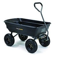"Gorilla Carts Garden/Yard Carts: Poly Garden Dump Cart w/ 10"" Pneumatic Tires (600-lbs Capacity) $  56.98 & More via Amazon"