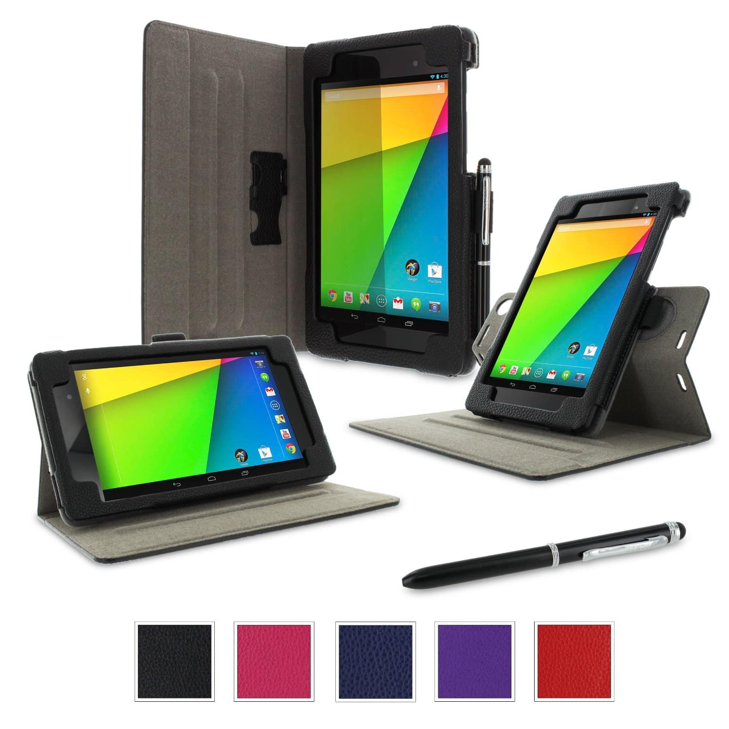 RooCASE Nexus 7 2013 Cases: Origami Slim Shell + Dual-View Multi-angle Stand Case $10.98 w/ Free Shipping w/ Prime or $35+