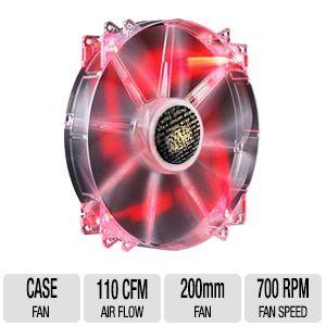 Cooler Master 200mm Red Led Case Fan (RA-FAN-20030-4P) for Free After Rebate, Cougar Vortex Black 120mm PWM Case Fan (CFV12HPB) for $4.99 AR + FS & More @ TigerDirect.com