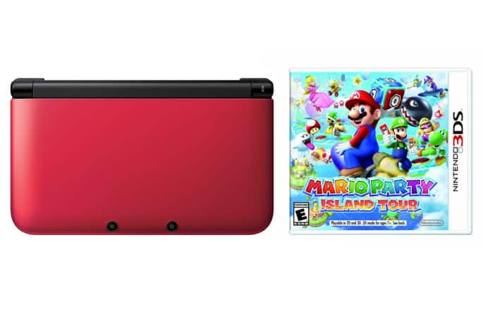 Nintendo 3DS XL Handheld Console (Refurbished) + Mario Party Island Tour  $135 + Free Shipping