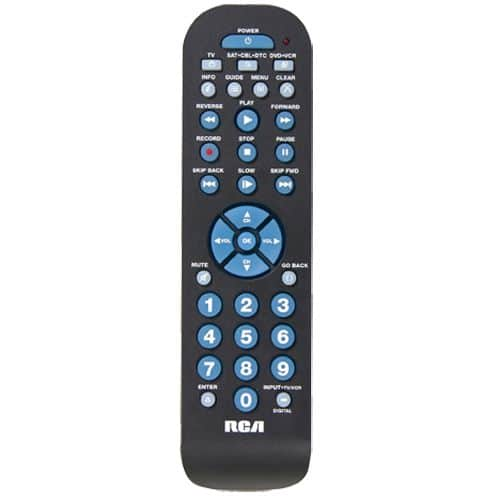 RCA 3-Device Universal Remote w/ DVR Functions + $6 Shop Your Way Points  $8 + Free In-Store Pickup