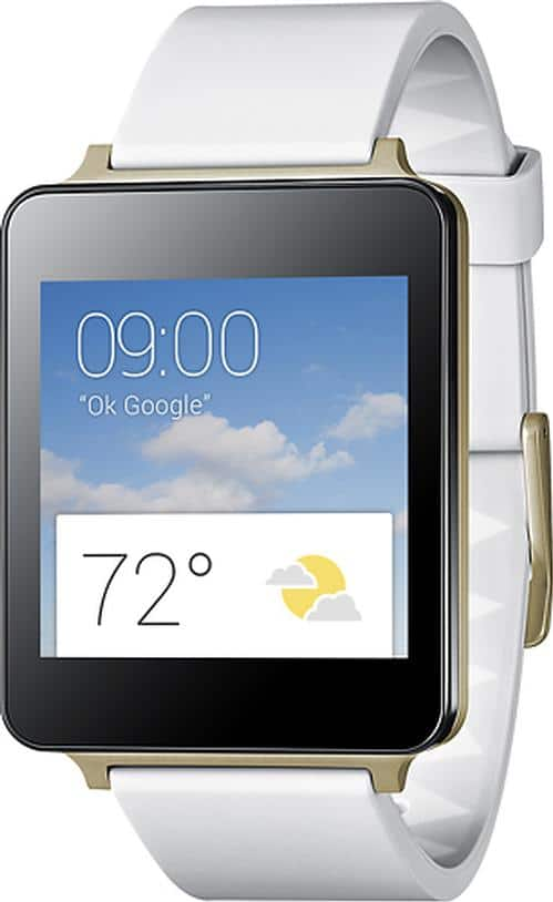 LG G Android Smartwatch in White Gold (Pre-Owned) $69.99 with free shipping