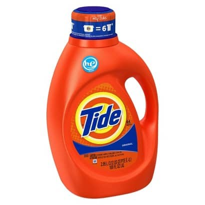 100Oz Tide Liquid Laundry Detergent: 3-Pack (various scents) + $10 Target Gift Card  $36 + Free In-Store Pickup