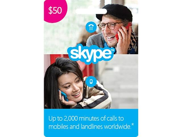 50% Off Skype Prepaid Credits: $50 for $25, $25 for $12.50, $10 for  $5