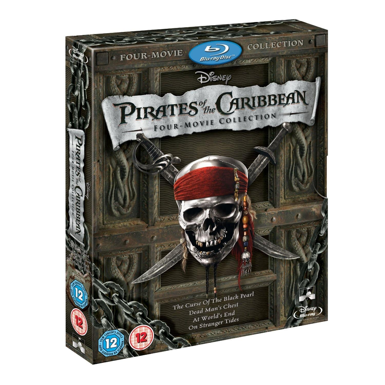 Pirates of the Caribbean 1-4 Box Set (Blu-ray)  $21