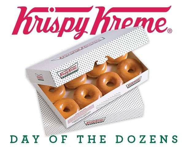 Krispy Kreme Printable Coupon: Buy One Dozen Original Glazed Doughnuts  Get One Dozen Free (Valid 12/12 Only)