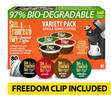 80-Count San Francisco Bay Gourmet Coffee OneCup (various flavors)  $25.60 or Less + Free Shipping