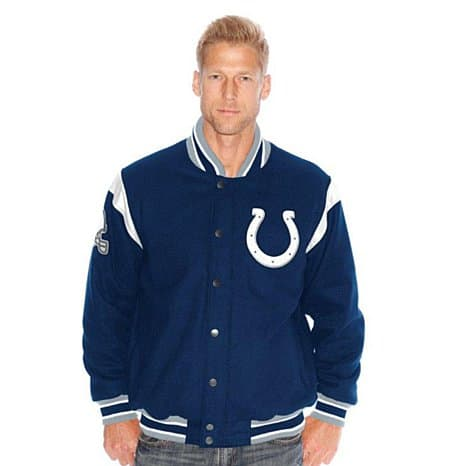 Men's NFL Two Minute Drill Varsity Jackets w/ Leather Trim (Select Teams)  $50 + Free Shipping
