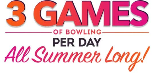 AMF Bowling Summer Game Pass - 3 Games of bowling everyday $21.95 Kids Pass $26.95 Adult Pass [Shoe rental included]