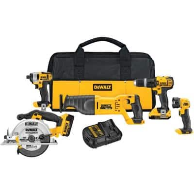 5-Tool DeWALT 20-Volt MAX Lithium-Ion Cordless Combo Kit $299 with free shipping
