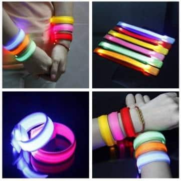 Running Gear Glowing LED Nylon Wrist Band (various colors)  $0.50 + Free Shipping