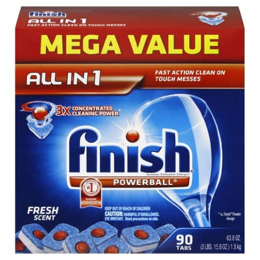 90-Count Finish Powerball Dishwasher Detergent Tablets $8.40 + Free Shipping