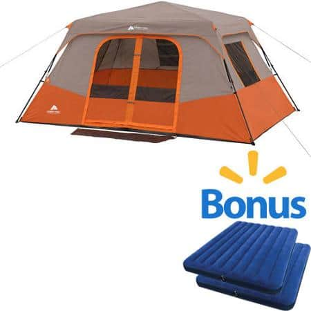 Ozark Trail 8-Person 2-Room Instant Cabin Tent with 2xQueen Airbed $139 @ Walmart