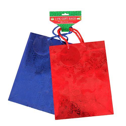 2-Pack Dollar Days Medium Embossed Foil Gift Bags  Free after Rebate & More + S&H