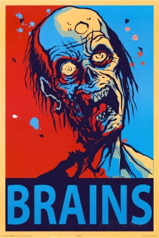 """Zombie Brains 24""""x36"""" Poster $1.98 + Free Shipping"""
