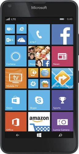 AT&T Nokia Lumia 640 4G No-Contract Smartphone (Black) $59.99 + Free Shipping / Free Store Pickup @ Best Buy