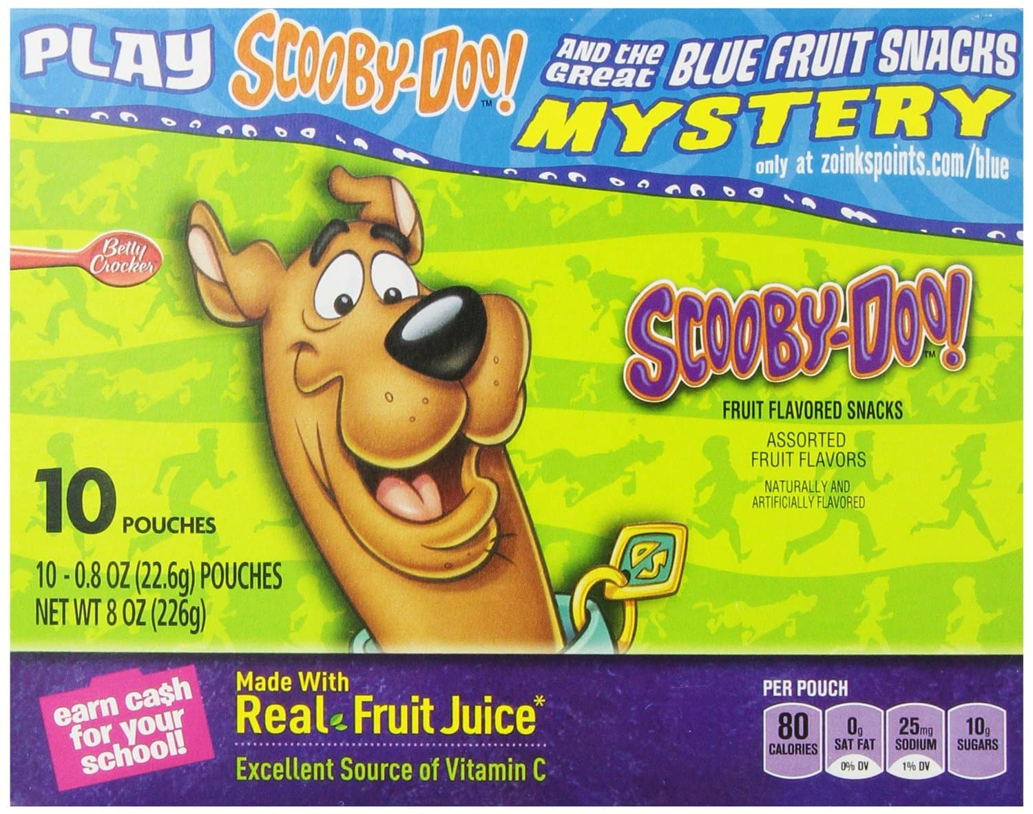 Fruit Shapes, Scooby Doo, 10-.8 Ounce pouches (Pack of 5) $6.82 w/ 5% S&S @ Amazon