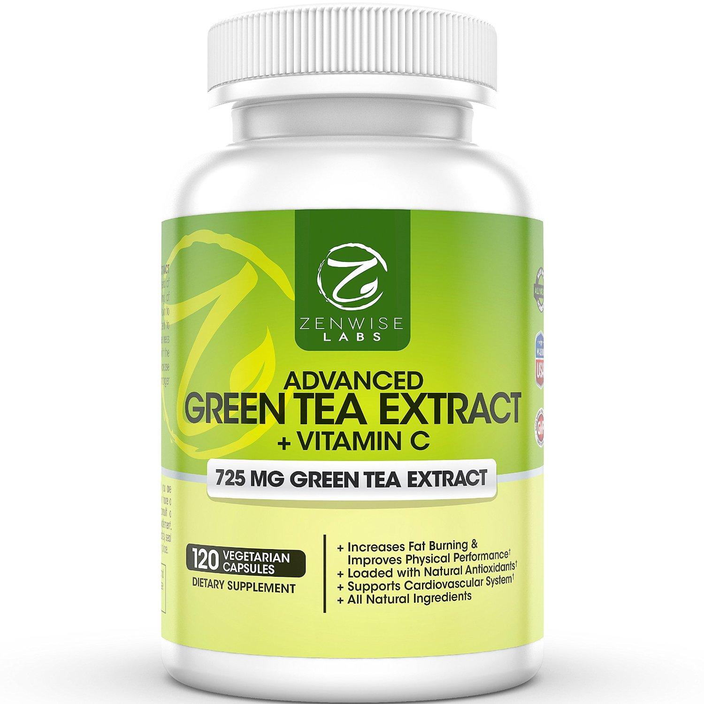 Zenwise Health: 120-Caps Green Tea Extract Supplement  Free + Free S/H