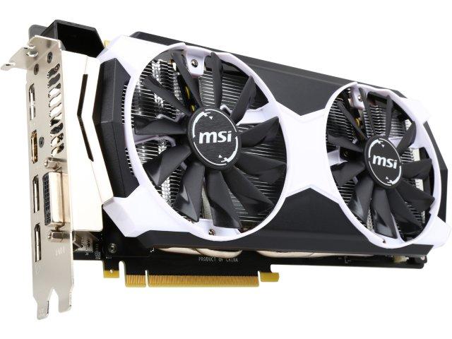 MSI GeForce GTX 980 Ti 6GD5T OC 6GB Video Card + free game $570 or less AR @ Newegg    980Ti