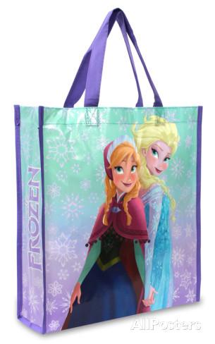 "Disney's Frozen 14""x15.5"" Tote Bag (Sisters Ana & Elsa) $1.99 & More + Free Shipping"