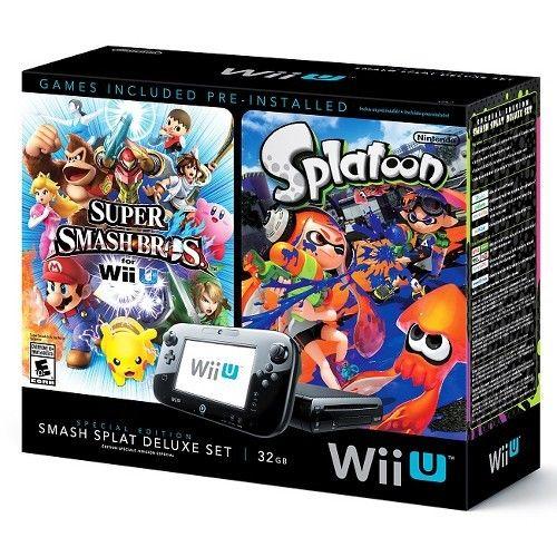 Nintendo Wii U Deluxe Set - Includes Splatoon and Super Smash Bros - $249 Target on eBay