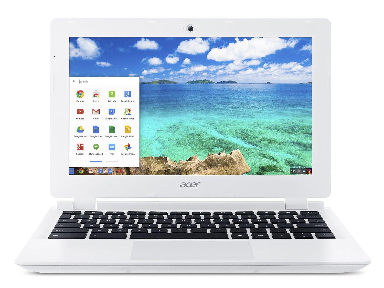 Acer Chromebook, 11.6-Inch, CB3-111-C670 (White) $95