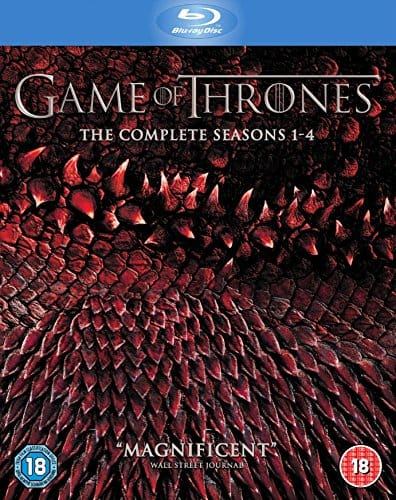 Game of Thrones: Seasons 1-4 (Region Free Blu-Ray) $51.84 Shipped