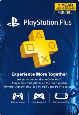 Playstation Plus 1 Year Membership - $37.45