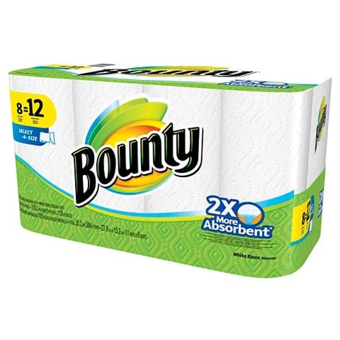 2x 8-Count Bounty Giant Select A Size Towels w/ $5 Target GC  $20 + Free S/H