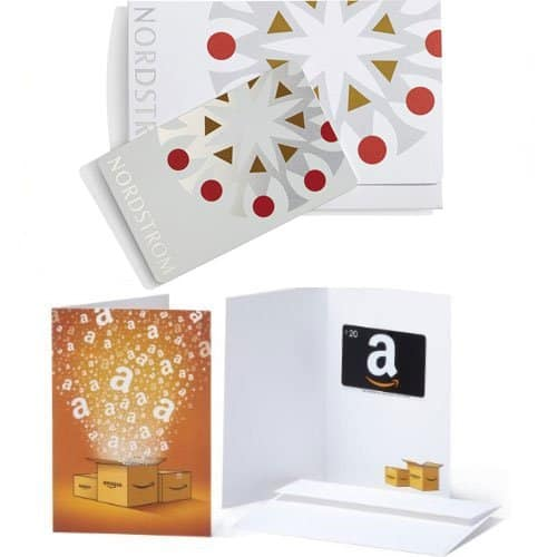 $100 Nordstrom Gift Card + $20 Amazon GC (various design)  $100 + Free S/H