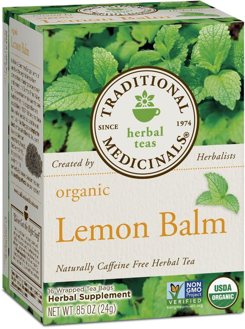 Traditional Medicinals Organic Lemon Balm Tea , 16 Tea Bags Back in stock  - $1.60 subscribe & save
