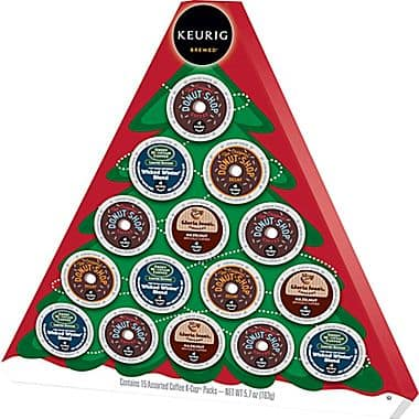 15-Count Keurig K-Cup Holiday Tree Gift Box  $7 + Free Store Pickup